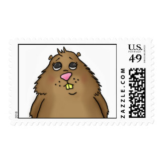 Chubby Hamster Postage Stamps
