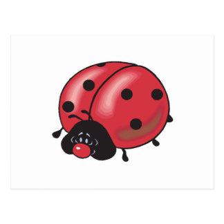 chubby little ladybug postcard