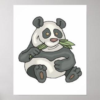 chubby little panda bear poster