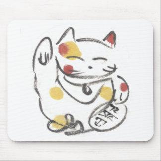 Chubby Lucky Cat Mousepad