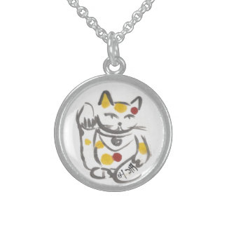 Chubby Lucky Cat Necklace