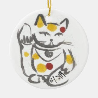 Chubby Lucky Cat Ornament