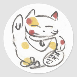 Chubby Maneki Neko Stickers