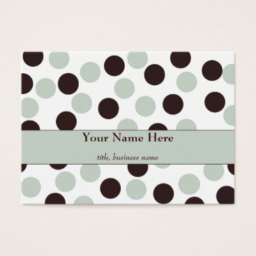 Professional Business Chubby Mint and Chocolate Polka Dot Business Card