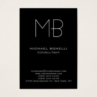 Chubby modern black background business card