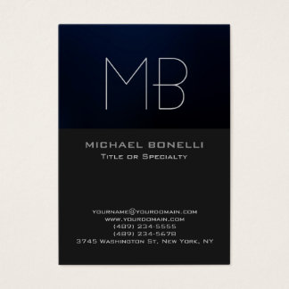 Chubby modern blue gray background business card