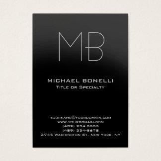 Chubby modern gray monogram business card