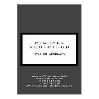 Chubby Modern Grey White Clean Business Card