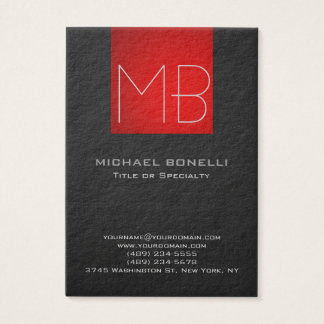 Chubby modern red grey background business card