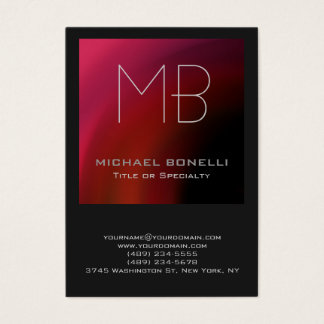 Chubby modern red pink purple gray business card