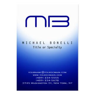 Chubby Monogram Blue White Clean Business Card