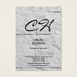 Chubby Monogram Wall Brick Design Business Card