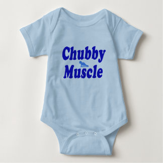 chubby muscle blue baby bodysuit