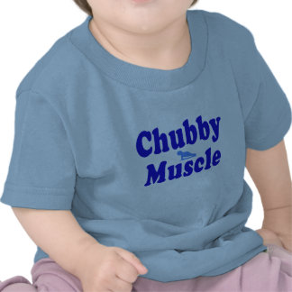 chubby muscle blue t shirt