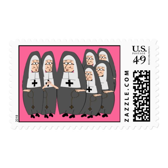 Chubby Nuns Postage Stamps