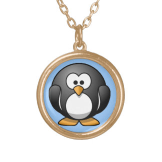Chubby Penguin Gold Plated Necklace
