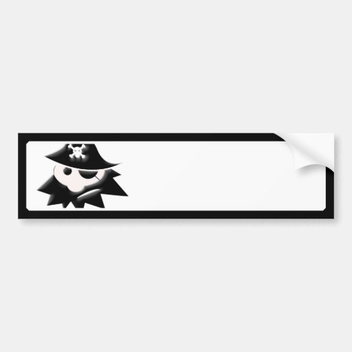 Chubby Pirate Kid (Talk Like a Pirate Day) Bumper Stickers