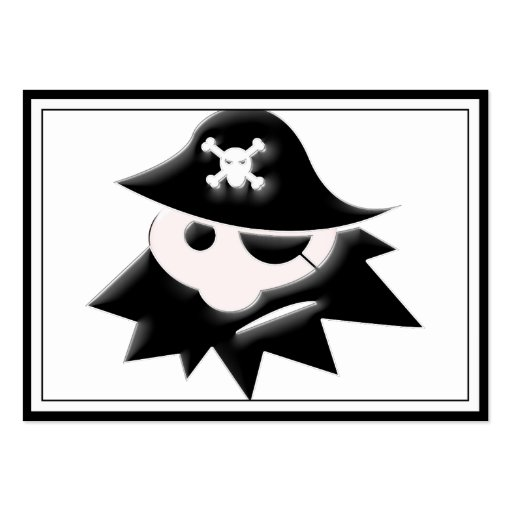 Chubby Pirate Kid (Talk Like a Pirate Day) Business Card
