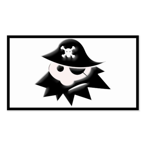 Chubby Pirate Kid (Talk Like a Pirate Day) Business Card Template