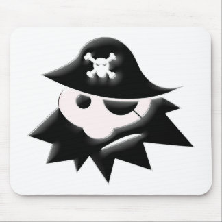 Chubby Pirate Kid (Talk Like a Pirate Day) Mouse Pads