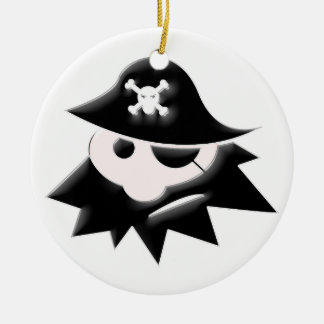 Chubby Pirate Kid (Talk Like a Pirate Day) Christmas Ornament