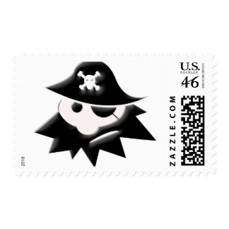 Chubby Pirate Kid (Talk Like a Pirate Day) Postage Stamps
