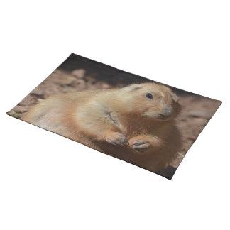 Chubby Prairie Dog Cloth Placemat