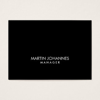 Chubby Professional Black Plain Business Card