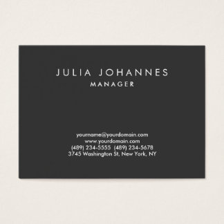 Chubby Professional Gray Plain Trendy Business Card