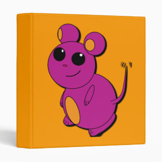 Chubby Purple Abstract Mouse Binder