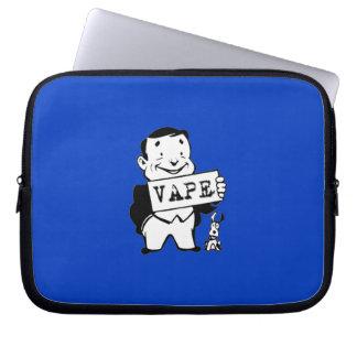Chubby Retro Man Vape Blue Computer Sleeves