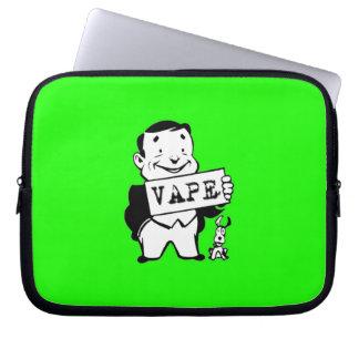 Chubby Retro Man Vape Green Laptop Sleeves