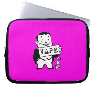 Chubby Retro Man Vape Pink Computer Sleeves