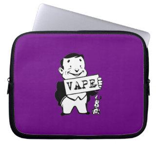 Chubby Retro Man Vape Purple Laptop Sleeves