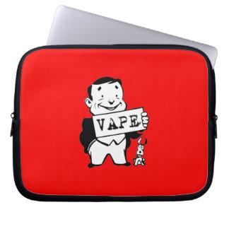 Chubby Retro Man Vape Red Computer Sleeve