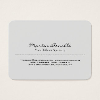 Chubby Rounded Corner Professional Business Card