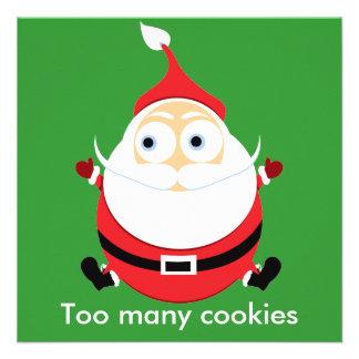 Chubby Santa Christmas Card Xmas Card Custom Invites