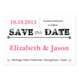 Chubby Save the Date Cards
