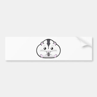 Chubby Semi White Russian Dwarf Hamster Car Bumper Sticker