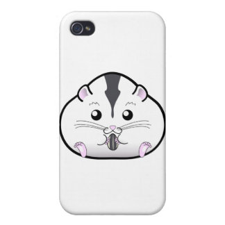 Chubby Semi White Russian Dwarf Hamster iPhone 4 Covers