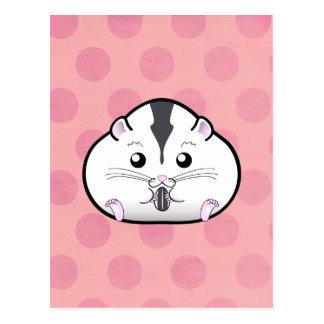 Chubby Semi White Russian Dwarf Hamster Postcard