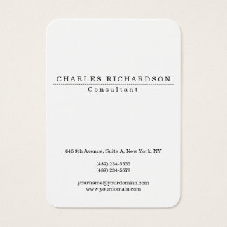 Chubby Stylish Classic White Professional Creation Business Card