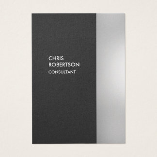 Chubby Stylish Gray Vertical Business Card