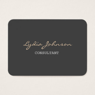 Chubby Stylish Script Trendy Grey Background Business Card