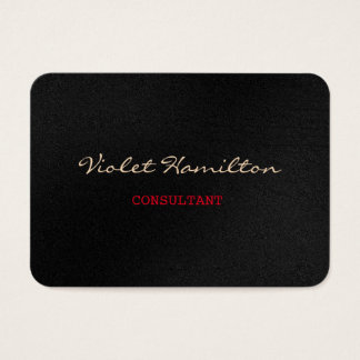 Chubby Stylish Script Trendy Professional Grey Red Business Card