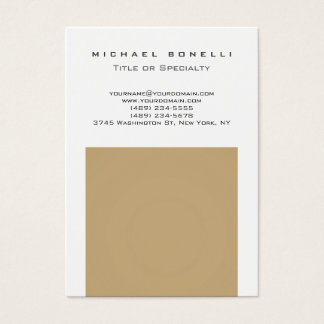 Chubby Trendy Beige White Chic Business Card