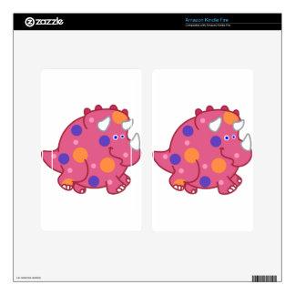 Chubby Triceratops Cartoon Dinosaur Kindle Fire Skin