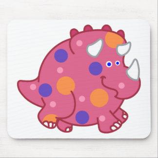 Chubby Triceratops Cartoon Dinosaur Mouse Pad