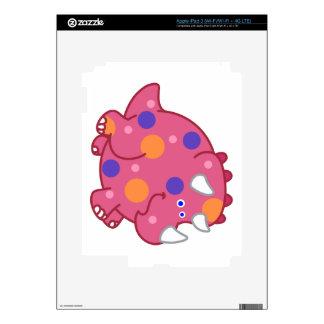 Chubby Triceratops Cartoon Dinosaur Skins For iPad 3
