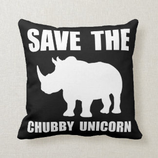 Chubby Unicorn Rhino Throw Pillow